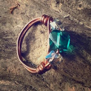 Wire Wrapped Ring, Size 5.5 - Copper